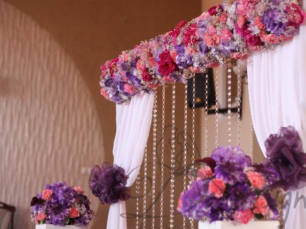 Decor biserica cristale cu flori